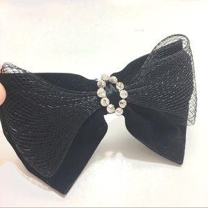 Jewelry - Black Velvet Bow Brooch Pin